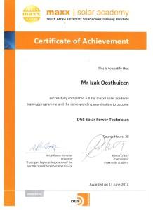 Izak Oosthuizen - Solar Maxx