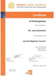 Izak Oosthuizen - Sunrise Beginner Course
