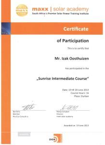 Izak Oosthuizen - Sunrise Intermediate Course