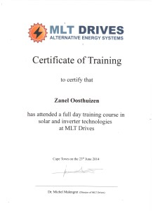 Zanel Oosthuizen - MLT DRIVES