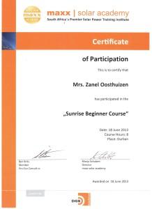 Zanel Oosthuizen - Sunrise Beginner Course