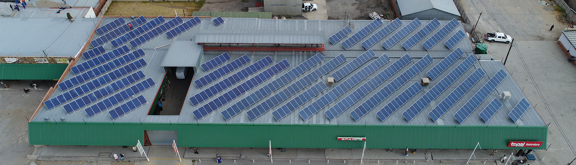 Eco Trades: Solar Power Systems for Shopping Centres (Project: SPAR Ventersburg)